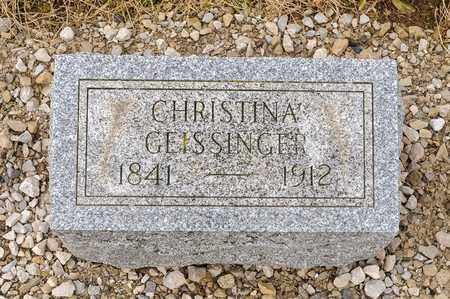 GEISSINGER, CHRISTINA - Richland County, Ohio | CHRISTINA GEISSINGER - Ohio Gravestone Photos