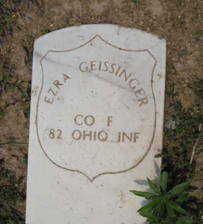GEISSINGER, EZRA - Richland County, Ohio | EZRA GEISSINGER - Ohio Gravestone Photos