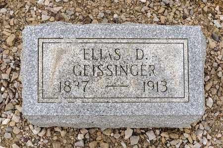 GEISSINGER, ELLAS D - Richland County, Ohio | ELLAS D GEISSINGER - Ohio Gravestone Photos