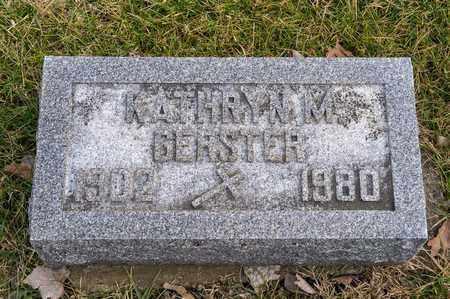 GERSTER, KATHRYN M - Richland County, Ohio | KATHRYN M GERSTER - Ohio Gravestone Photos