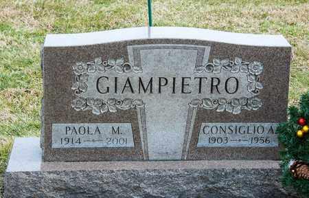 GIAMPIETRO, PAOLA M - Richland County, Ohio | PAOLA M GIAMPIETRO - Ohio Gravestone Photos