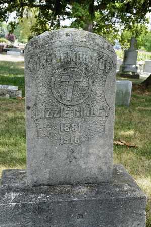 GINLEY, LIZZIE - Richland County, Ohio | LIZZIE GINLEY - Ohio Gravestone Photos