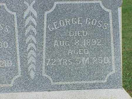 GOSS, GEORGE - Richland County, Ohio | GEORGE GOSS - Ohio Gravestone Photos