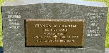 GRAHAM, VERNON W - Richland County, Ohio | VERNON W GRAHAM - Ohio Gravestone Photos