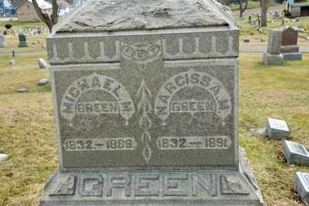 GREEN, NARCISSA M - Richland County, Ohio | NARCISSA M GREEN - Ohio Gravestone Photos