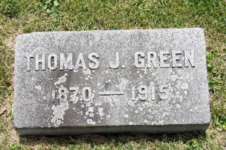 GREEN, THOMAS J - Richland County, Ohio | THOMAS J GREEN - Ohio Gravestone Photos