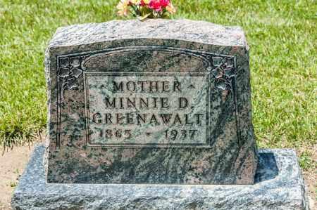 MERCER GREENAWALT, MINNIE D - Richland County, Ohio | MINNIE D MERCER GREENAWALT - Ohio Gravestone Photos