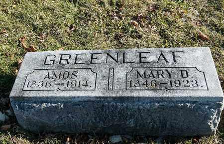 GREENLEAF, MARY D - Richland County, Ohio | MARY D GREENLEAF - Ohio Gravestone Photos
