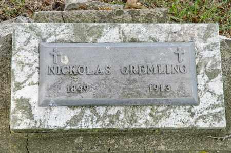 GREMLING, NICKOLAS - Richland County, Ohio | NICKOLAS GREMLING - Ohio Gravestone Photos