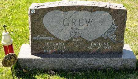 GREW, LEONARD - Richland County, Ohio | LEONARD GREW - Ohio Gravestone Photos