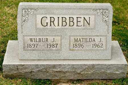 GRIBBEN, MATILDA J - Richland County, Ohio | MATILDA J GRIBBEN - Ohio Gravestone Photos