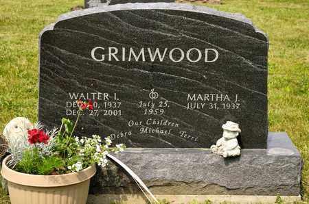 GRIMWOOD, WALTER I - Richland County, Ohio   WALTER I GRIMWOOD - Ohio Gravestone Photos