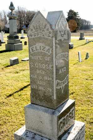 GROSE, ELIZA - Richland County, Ohio | ELIZA GROSE - Ohio Gravestone Photos