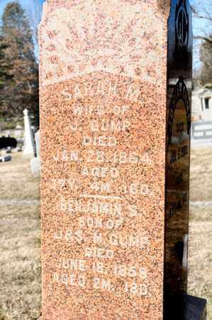 GUMP, BENJAMIN S - Richland County, Ohio | BENJAMIN S GUMP - Ohio Gravestone Photos