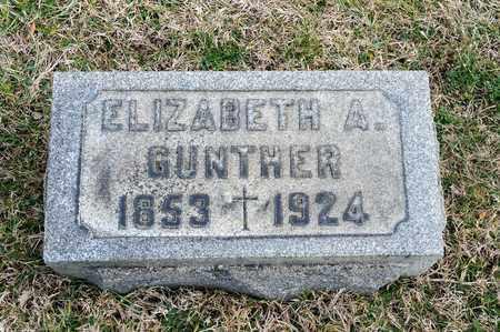 GUNTHER, ELIZABETH A - Richland County, Ohio | ELIZABETH A GUNTHER - Ohio Gravestone Photos
