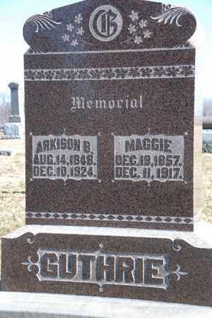 GUTHRIE, MAGGIE - Richland County, Ohio | MAGGIE GUTHRIE - Ohio Gravestone Photos