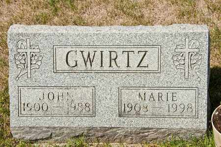 GWIRTZ, JOHN - Richland County, Ohio | JOHN GWIRTZ - Ohio Gravestone Photos
