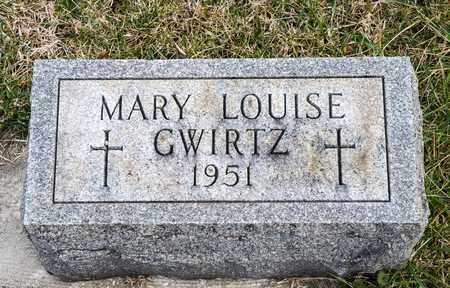 GWIRTZ, MARY LOUISE - Richland County, Ohio   MARY LOUISE GWIRTZ - Ohio Gravestone Photos