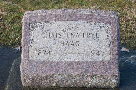 FRYE HAAG, CHRISTENA - Richland County, Ohio | CHRISTENA FRYE HAAG - Ohio Gravestone Photos