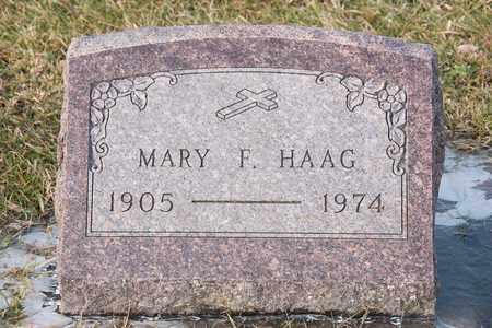 HAAG, MARY F - Richland County, Ohio | MARY F HAAG - Ohio Gravestone Photos