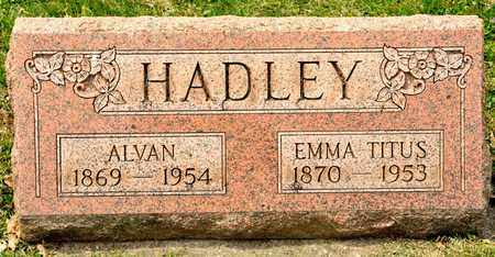 HADLEY, ALVAN - Richland County, Ohio | ALVAN HADLEY - Ohio Gravestone Photos