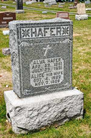 HAFER, ALVA - Richland County, Ohio | ALVA HAFER - Ohio Gravestone Photos