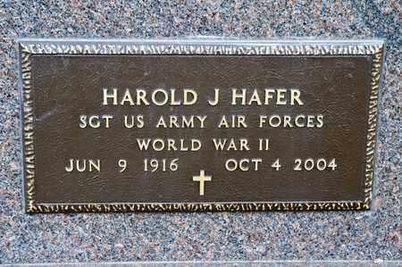 HAFER, HAROLD J - Richland County, Ohio | HAROLD J HAFER - Ohio Gravestone Photos