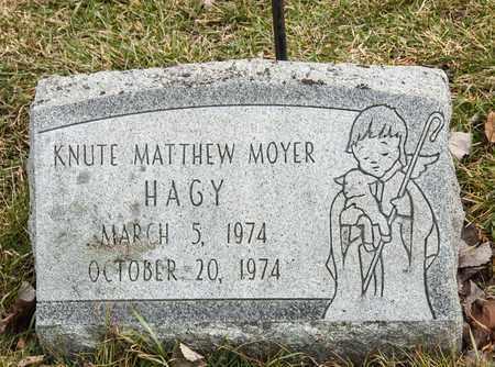 HAGY, KNUTE MATTHEW MOYER - Richland County, Ohio | KNUTE MATTHEW MOYER HAGY - Ohio Gravestone Photos