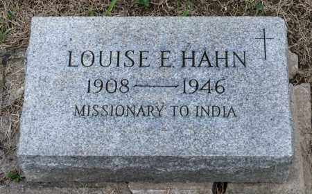 HAHN, LOUISE E - Richland County, Ohio | LOUISE E HAHN - Ohio Gravestone Photos
