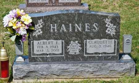HAINES, ALBERT E - Richland County, Ohio | ALBERT E HAINES - Ohio Gravestone Photos