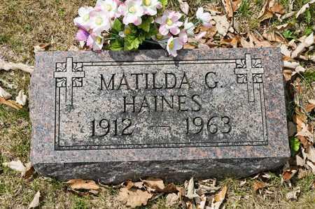 HAINES, MATILDA G - Richland County, Ohio | MATILDA G HAINES - Ohio Gravestone Photos