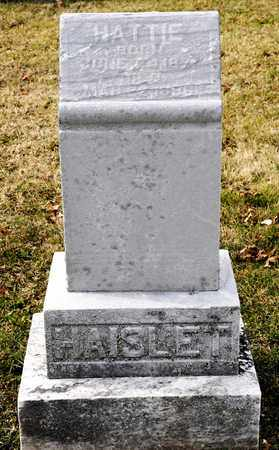 HAISLET, HATTIE - Richland County, Ohio | HATTIE HAISLET - Ohio Gravestone Photos