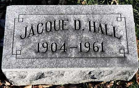 HALL, JACQUE D - Richland County, Ohio | JACQUE D HALL - Ohio Gravestone Photos