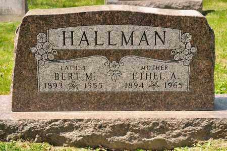 HALLMAN, BERT M - Richland County, Ohio | BERT M HALLMAN - Ohio Gravestone Photos