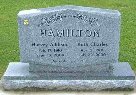 CHARLES HAMILTON, RUTH BERTHA - Richland County, Ohio | RUTH BERTHA CHARLES HAMILTON - Ohio Gravestone Photos