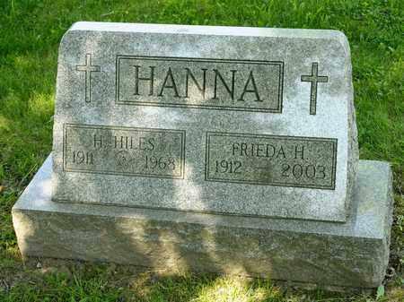 HANNA, H HILES - Richland County, Ohio | H HILES HANNA - Ohio Gravestone Photos