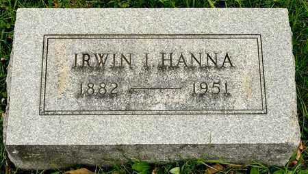 HANNA, IRWIN I - Richland County, Ohio | IRWIN I HANNA - Ohio Gravestone Photos