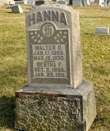 HANNA, BERTHA F - Richland County, Ohio   BERTHA F HANNA - Ohio Gravestone Photos