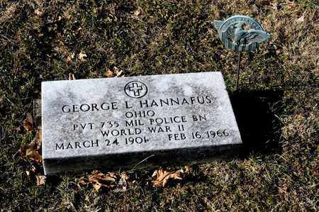 HANNAFUS, GEORGE L - Richland County, Ohio   GEORGE L HANNAFUS - Ohio Gravestone Photos