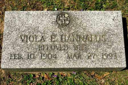 HANNAFUS, VIOLA E - Richland County, Ohio   VIOLA E HANNAFUS - Ohio Gravestone Photos