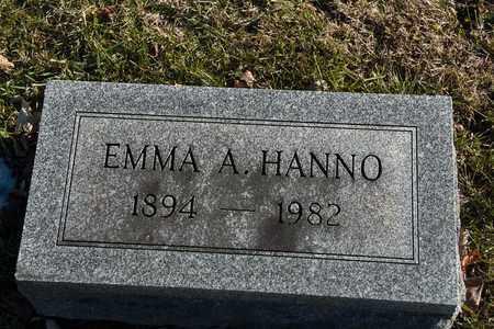 HANNO, EMMA A - Richland County, Ohio   EMMA A HANNO - Ohio Gravestone Photos
