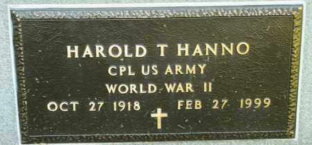 HANNO, HAROLD T - Richland County, Ohio   HAROLD T HANNO - Ohio Gravestone Photos