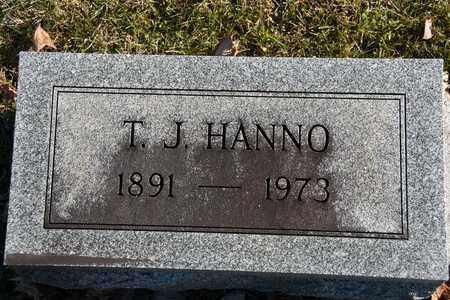 HANNO, T J - Richland County, Ohio   T J HANNO - Ohio Gravestone Photos