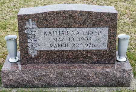 HAPP, KATHARINA - Richland County, Ohio | KATHARINA HAPP - Ohio Gravestone Photos
