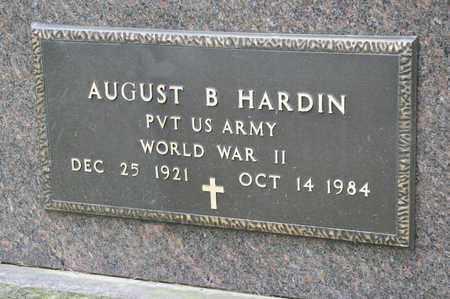 HARDIN, AUGUST B - Richland County, Ohio   AUGUST B HARDIN - Ohio Gravestone Photos