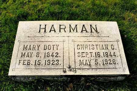 DOTY HARMAN, MARY - Richland County, Ohio | MARY DOTY HARMAN - Ohio Gravestone Photos