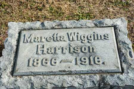 WIGGINS HARRISON, MARETTA - Richland County, Ohio   MARETTA WIGGINS HARRISON - Ohio Gravestone Photos