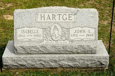 HARTGE, JOHN L - Richland County, Ohio | JOHN L HARTGE - Ohio Gravestone Photos