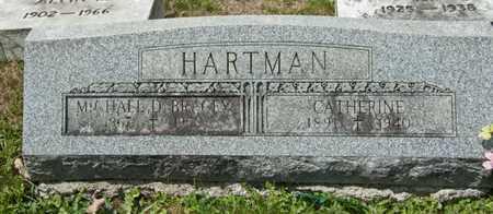HARTMAN, CATHERINE - Richland County, Ohio | CATHERINE HARTMAN - Ohio Gravestone Photos