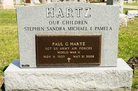 HARTZ, PAUL G - Richland County, Ohio   PAUL G HARTZ - Ohio Gravestone Photos